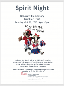 Chick-Fil-A Spirit Night @ Chick-fil-a